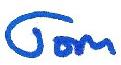 Signature Tom blue
