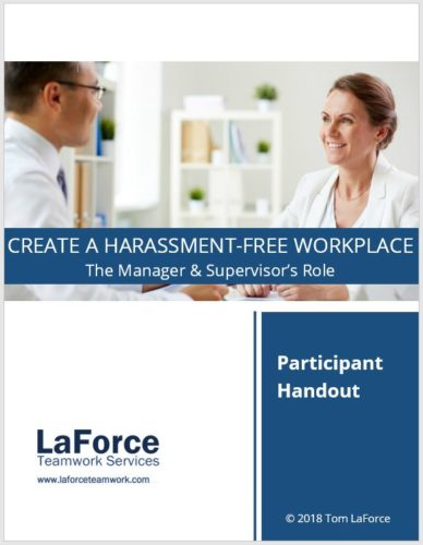 Sexual harassment training managers